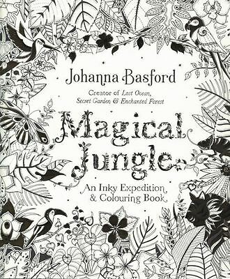 Magical Jungle - An Inky Expedition & Colouring Book by Johanna Basford NEW