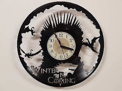 Game of Thrones vinyl record clock home decor gift