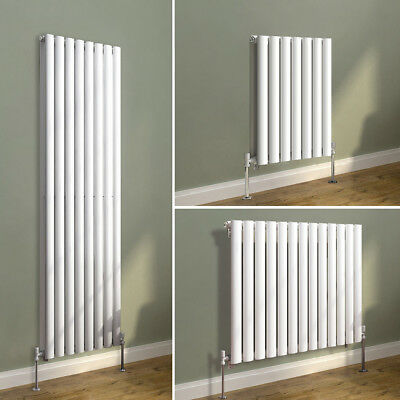 Designer Vertical Horizontal Radiator Oval Column Panel Central Heating White
