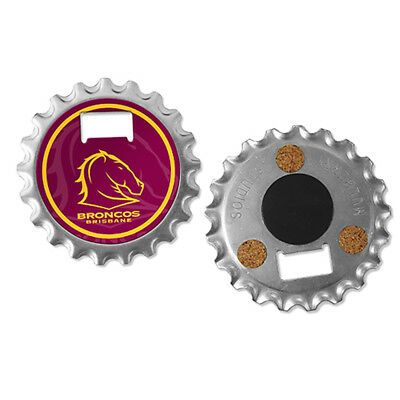 Brisbane Broncos NRL 3 in 1 Bottle Opener Coaster And Fridge Magnet