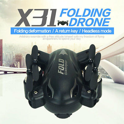 SYX31 Foldable 2.4Ghz 4CH 6 Axis Gyro Remote Control Quadcopter RC Drone RTF