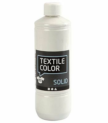 500ml Stoffmalfarbe DUNKLE Stoffe WEISS Textilfarbe TEX SOLID