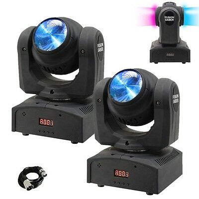2x Equinox Fusion Saber Twin Beam LED Moving Head DJ Lighting Effect & DMX Cable