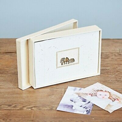 Fair Trade Eco Friendly Small Elephant Dung Paper Photo Album with gift box