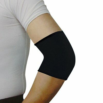 Sport Black Elastic Neoprene Elbow Support Sleeve Brace L6