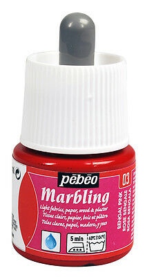 Pebeo Marbling Art & Craft Paint Ink 45ml Bottles - 9 Colours & Thickeners