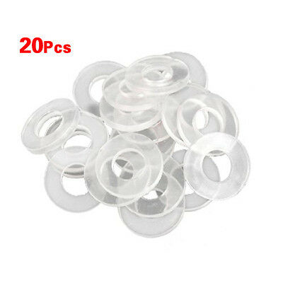 """New 20 Pcs 3/4"""" 13g Clear Outside Diameter Rubber Gasket Washer Seal Rings L6"""