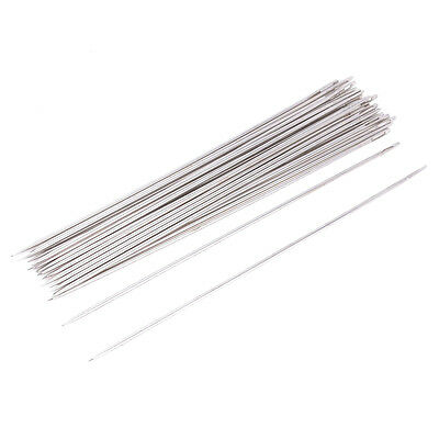 25 Pcs 1.6mm Dia Metal Quilting Tailor Sewing Needles 15cm Long LW