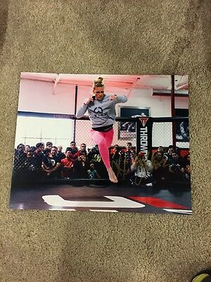 Holly Holm Signed Autographed 8 x 10 Photo MMA UFC Champion HOT SEXY COA