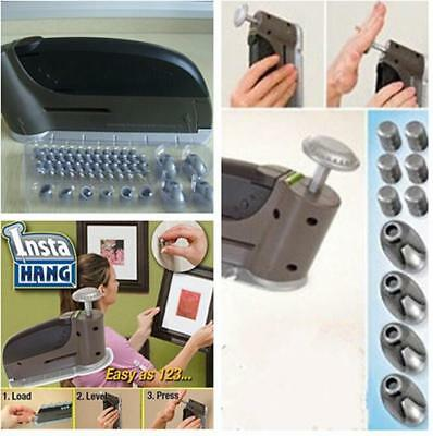 Household InstaHang Picture Hanging Tool 47pc set 10lb Insta Hang Wall Hook - DD