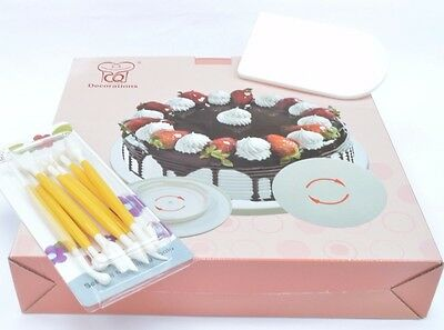 Cake Sugarcraft Turntable Tool Kit Smoother Icing Modelling tools UK Seller