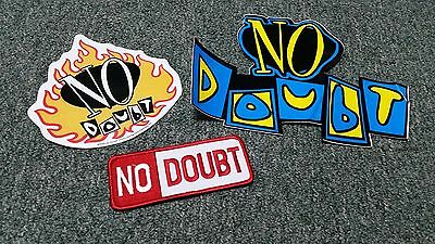 Vintage- No Doubt- Large Decal Stickers- Lot of 2- & Iron On Patch
