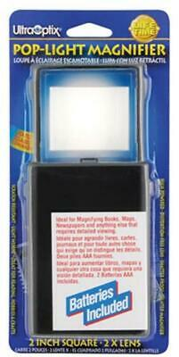 Ultraoptix Inc. Lighted Magnifier Aids to Daily Living Magnifier Pop-Up Lighted