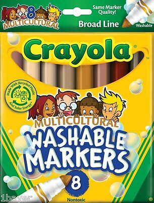 Crayola Art Craft Drawing Painting Multicultural Washable Painter Maker (8pc)