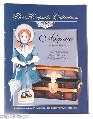Vintage NEW 1996 Aimee Paper Dolls (Keepsake Collection) Hobby House Book