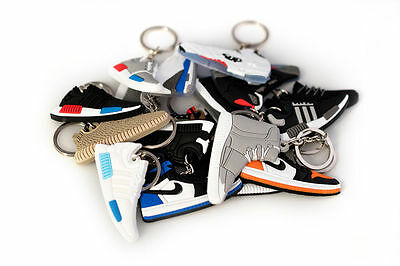 Sneaker Keychains BOOST YEEZY AIR MAG SUPREME AIR JORDAN ART COLLECTIBLES *20LOT