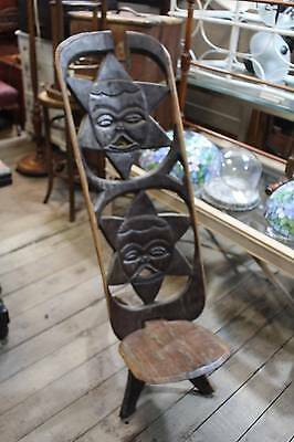 A Large Tribal Chair - Two Piece