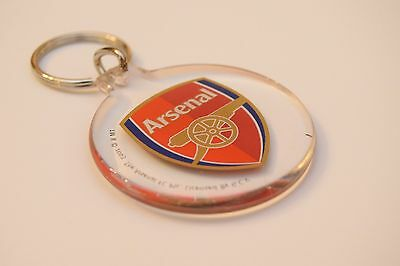 Official Licensed Football  Arsenal Keyring Key Ring Crest Design Round Plastic