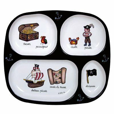 Baby Cie TV Tray 4 part divided tray 8 with French Wording and Theme, Pirates