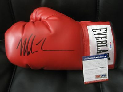 Iron Mike Tyson signed boxing glove PSA DNA