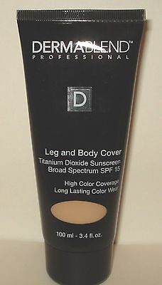 Dermablend-Professional Leg and Body Cover SPF 15 - Natural - 3.4 Oz/100 ml New