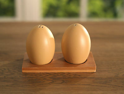 Salt & Pepper Shakers Farm Style Ceramic Eggs Cute Kitchenware Table Salt 12.5cm