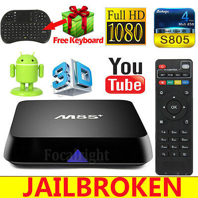 M8S+ Plus Fully Loaded Quad Core Android Smart TV Box + Free Keyboard