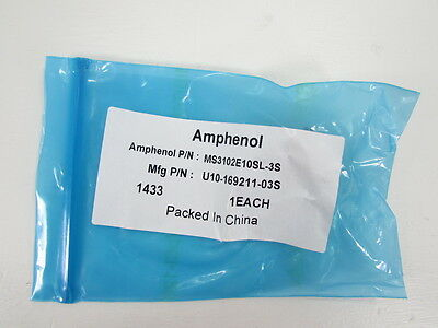 New Amphenol Industrial  Ms3102E10Sl-3S Circular Connector