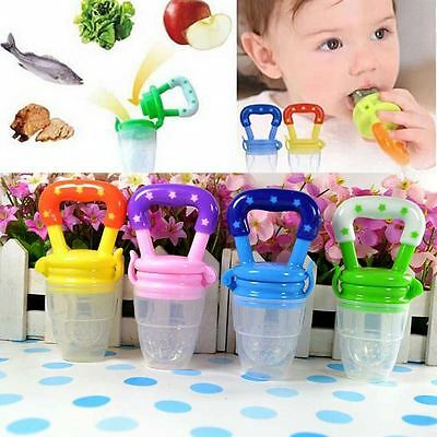 1x Baby Kid Fruit Milk Food Silicone Pacifier Soother Feeding Tool Baby Bottles