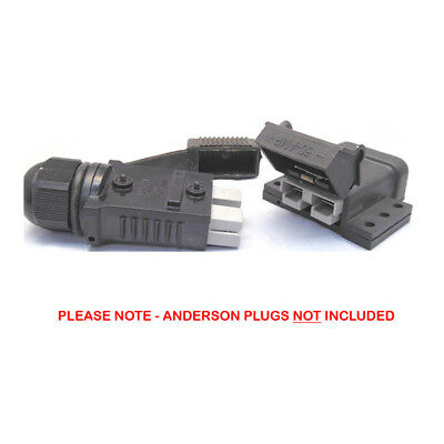 Anderson Plug Cover Mounting Bracket + Lead End 50 Amp Dust Cover Weatherproof