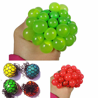 Novelty 1Pcs Squishy Mesh Ball Squeeze Anti Stress Reliever Healthy Toy Random