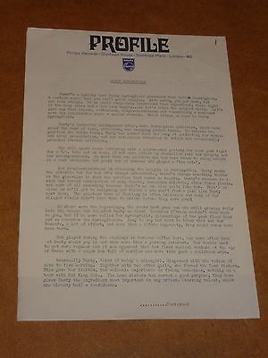 Dusty Springfield 1969 Philips Records Press Release