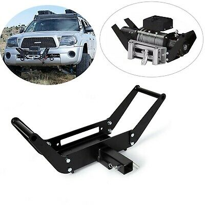 Foldable Winch Mounting Plate Cradle Mount For 2'' Hitch Receiver 4WD SUV
