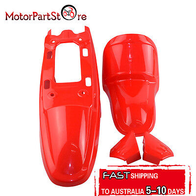 Red Plastic Fender Kit Body Cover Fairing For Yamaha PW50 PY50 Peewee 50 Bike