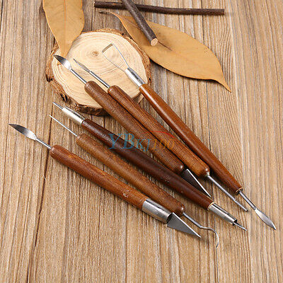 6pcs Pottery Clay Wax Sculpture Carving Modelling Hobby Tools DIY Art Craft