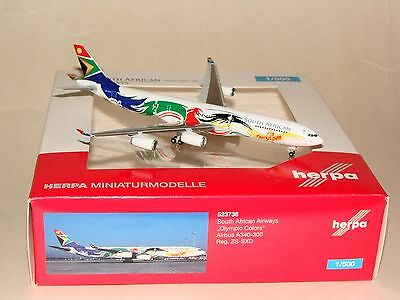 523738 1:500 Herpa Wings South African A340-300 Olympic ZS-SXD  free shipping