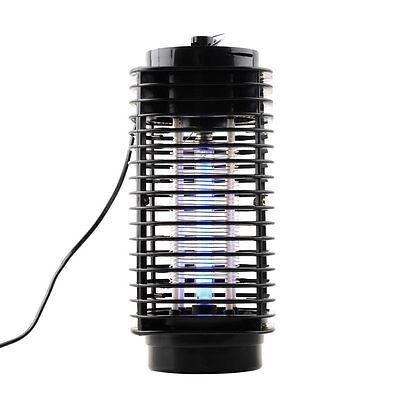 New 110V/220V Electric Mosquito Fly Bug Zapper Killer With Trap Lamp Black JS~