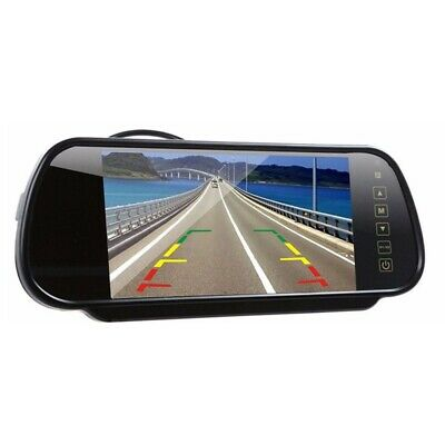 "Universal Fit LCD 7"" Rear View Interior Mirror Colour Monitor Reverse Reversing"