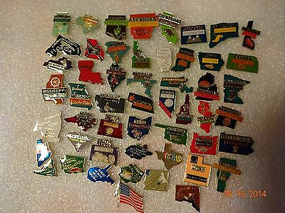 United states lapel pins  52 metal pins including 50 States,US Flag & DC New!!