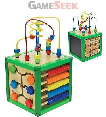 Wooden Activity Cube - Educational Numbers And Letters Brand New Free Delivery