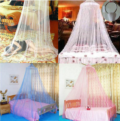 Elegant Lace Bed Mosquito Netting Mesh Canopy Princess Round Dome Bedding Net RF