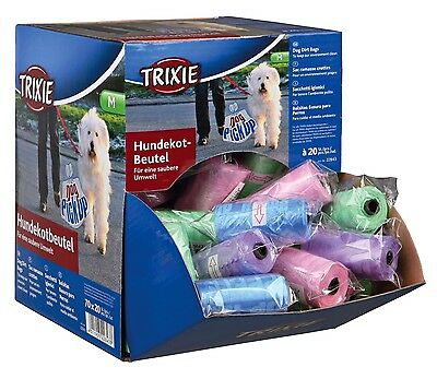 x3 Dog Waste Poop Bags 3 Rolls of 20 Bags for Medium Dogs M