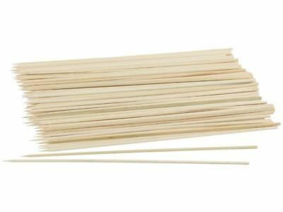 50 x Bamboo Skewers Kebab BBQ Party Stick Paddle Sticks Wooden Grill - 15CM