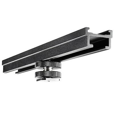 Walimex hot-shoe extension rail 15 cm (with 1/4 inch thread clip-on foot)