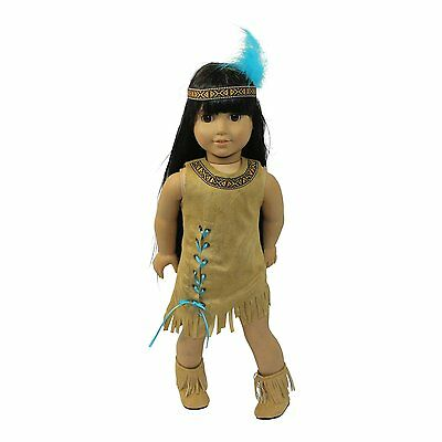 """Doll Clothes 18"""" Dress Native American Indian Arianna Fits American Girl Doll"""