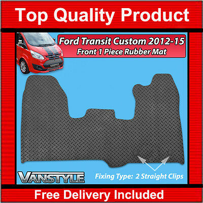 Ford Transit Custom 2012-2015 Black Rubber Mats Car Floor Mat Heavy Duty Tourneo