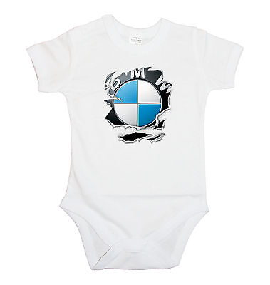 BABY BODY, BMW M Power LOGO TORN 1, BODYSUIT KURZARM / LANGARM