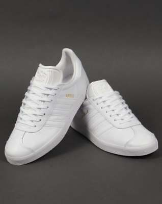 adidas Gazelle Leather Trainers in White - classic retro