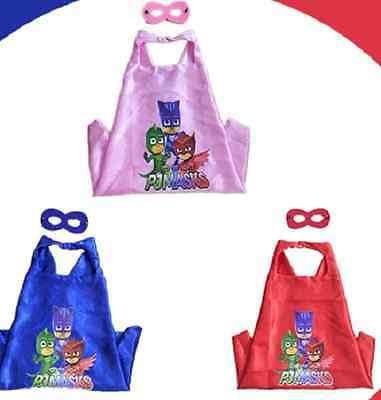 HOT PJmasks Superhero (1 cape+1 mask) Cape for kids birthday party Ideas @!!!