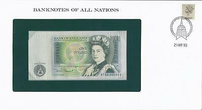 Banknotes of All Nations, Great Britain,1 Pound 1981-84, P377b , Uncirculated
